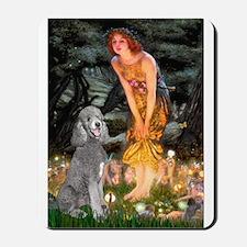 Midsummer/Std Poodle (silver) Mousepad