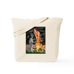 Midsummer/Std Poodle (silver) Tote Bag