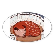 guinea_pig_q003 Oval Decal