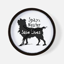 Save Lives Spay & Neuter (Dog) Wall Clock