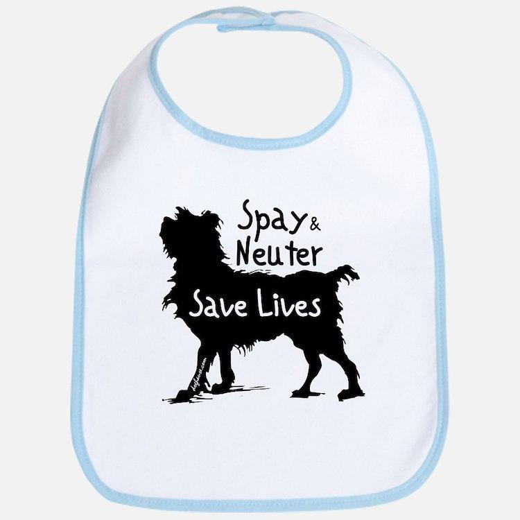 Save Lives Spay & Neuter (Dog) Bib