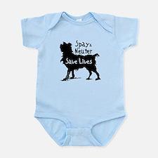 Save Lives Spay & Neuter (Dog) Infant Bodysuit