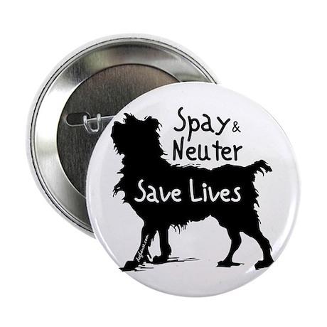 Save Lives Spay & Neuter (Dog) Button