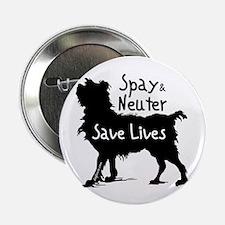 """Save Lives Spay & Neuter (Dog) 2.25"""" Button (10 pa"""