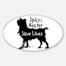Save Lives Spay & Neuter (Dog) Oval Bumper Stickers