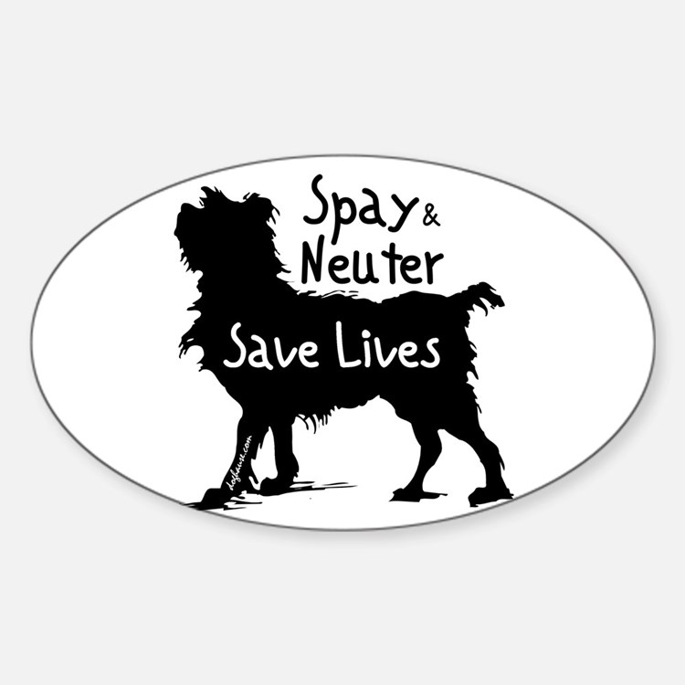 Save Lives Spay & Neuter (Dog) Oval Decal