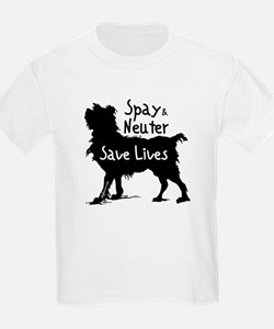 Save Lives Spay & Neuter (Dog) Kids T-Shirt