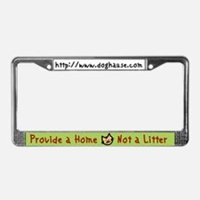 Provide a Home - Not a Litter License Plate Frame