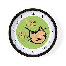 Provide a Home - Not a Litter Wall Clock