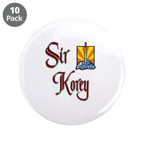 """Sir Korey 3.5"""" Button (10 pack)"""