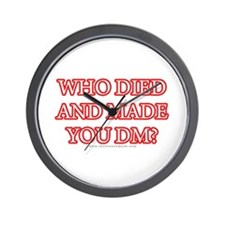 Who Died Wall Clock