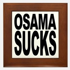 Osama Sucks Framed Tile