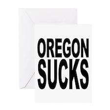 Oregon Sucks Greeting Card