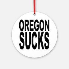 Oregon Sucks Ornament (Round)