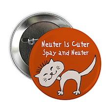 """Neuter Is Cuter 2.25"""" Button (10 pack)"""