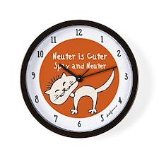 Neuter Is Cuter Wall Clock