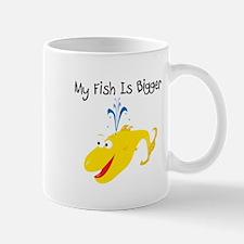 Yellow My Fish Is Bigger Mug