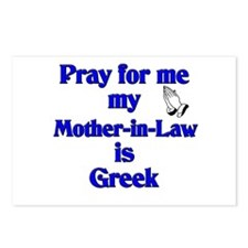 Pray for me my Mother-in-Law is Greek Postcards (P