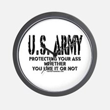 US ARMY PROTECTING YOUR ASS Wall Clock