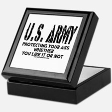 US ARMY PROTECTING YOUR ASS Keepsake Box
