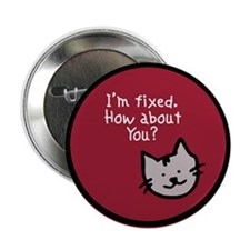 I'm Fixed (Cat) Button