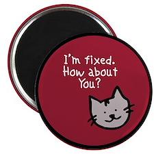 """I'm Fixed (Cat) 2.25"""" Magnet (10 pack)"""