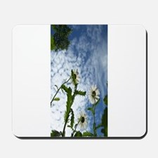 white flowers in the sky Mousepad