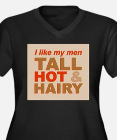 Tall, hot and hairy... Women's Plus Size V-Neck Da