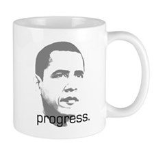 "Obama ""progress."" Small Mug"