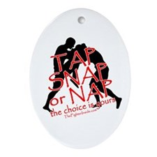 Tap Snap or Nap Oval Ornament