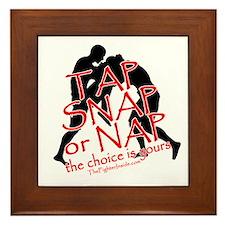 Tap Snap or Nap Framed Tile