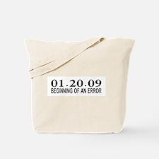 01.20.09 Beginning of an Error Tote Bag
