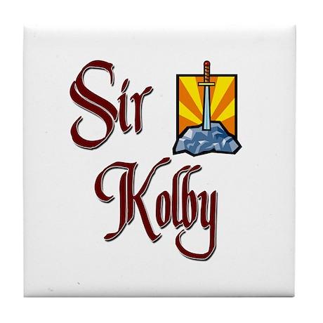 Sir Kolby Tile Coaster