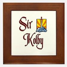 Sir Kolby Framed Tile
