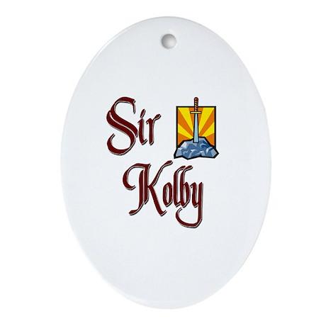 Sir Kolby Oval Ornament