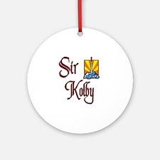 Sir Kolby Ornament (Round)