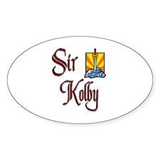 Sir Kolby Oval Decal