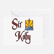 Sir Kolby Greeting Card
