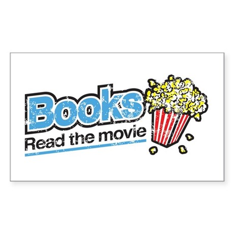 """Books: Read the Movie"" Rectangle Sticker"