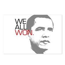 """Obama """"WE ALL WON."""" Postcards (Package of 8)"""