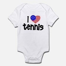 I Love Tennis Infant Bodysuit