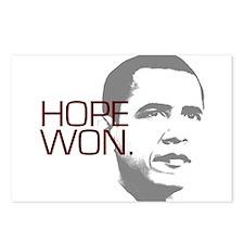 "Obama ""Hope Won."" Postcards (Package of 8)"