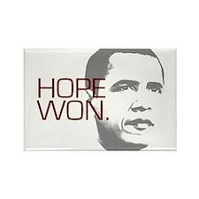 """Obama """"Hope Won."""" Rectangle Magnet"""