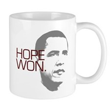 "Obama ""Hope Won."" Small Mug"