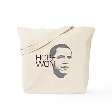 "Obama ""Hope Won."" Tote Bag"
