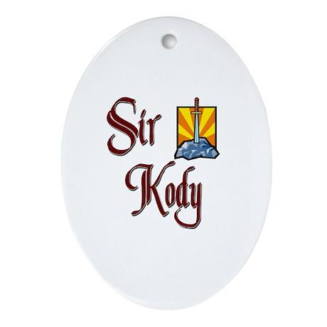 Sir Kody Oval Ornament