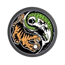Dragon Tiger Wall Clock