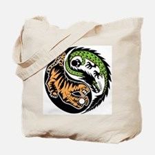 Dragon Tiger Tote Bag