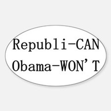 Obama-Won't Oval Decal