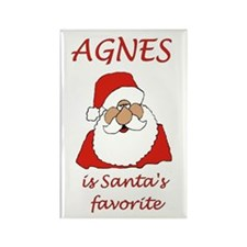 Agnes Christmas Rectangle Magnet (100 pack)